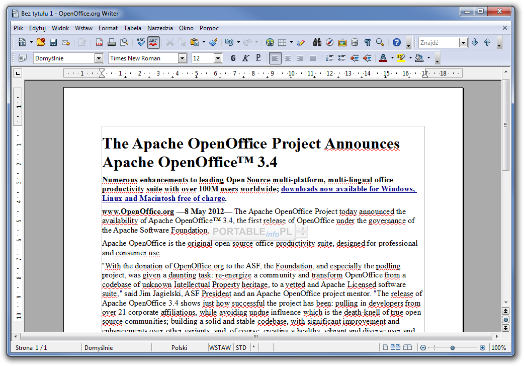 Apache openoffice 4 1 1 portable programy portable - Open office 4 1 1 gratuit ...